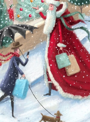 Image of Last minute shopping, Christmas Card