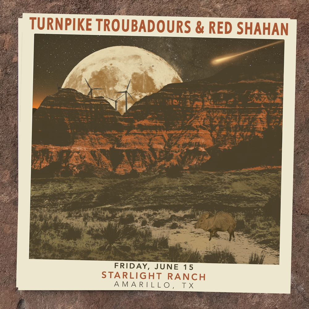 Image of Limited Edition Show Poster | TURNPIKE TROUBADOURS & RED SHAHAN (6.15 - Amarillo, Tx)