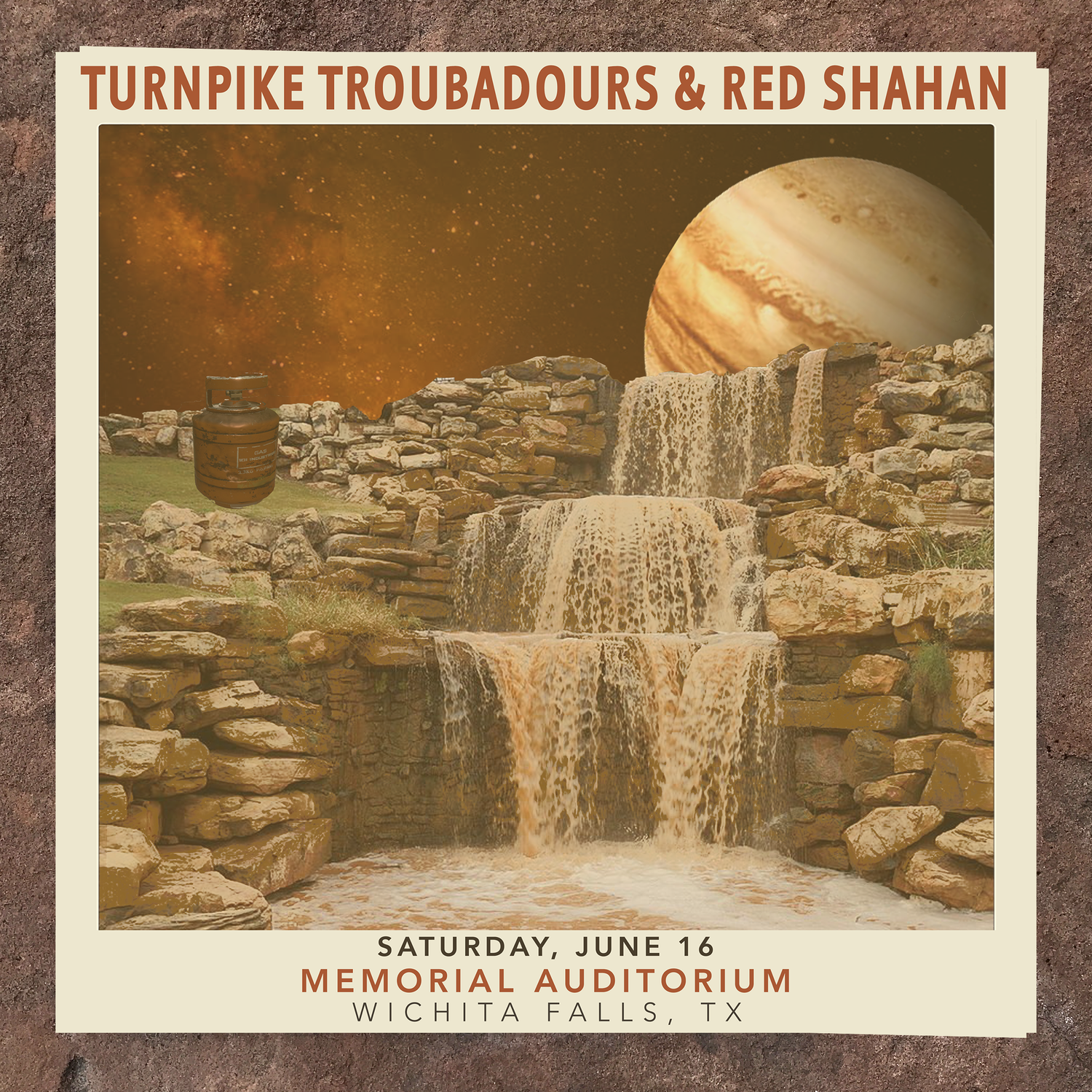 Image of Limited Edition Show Poster | TURNPIKE TROUBADOURS & RED SHAHAN (6.16 - Wichita Falls, Tx)