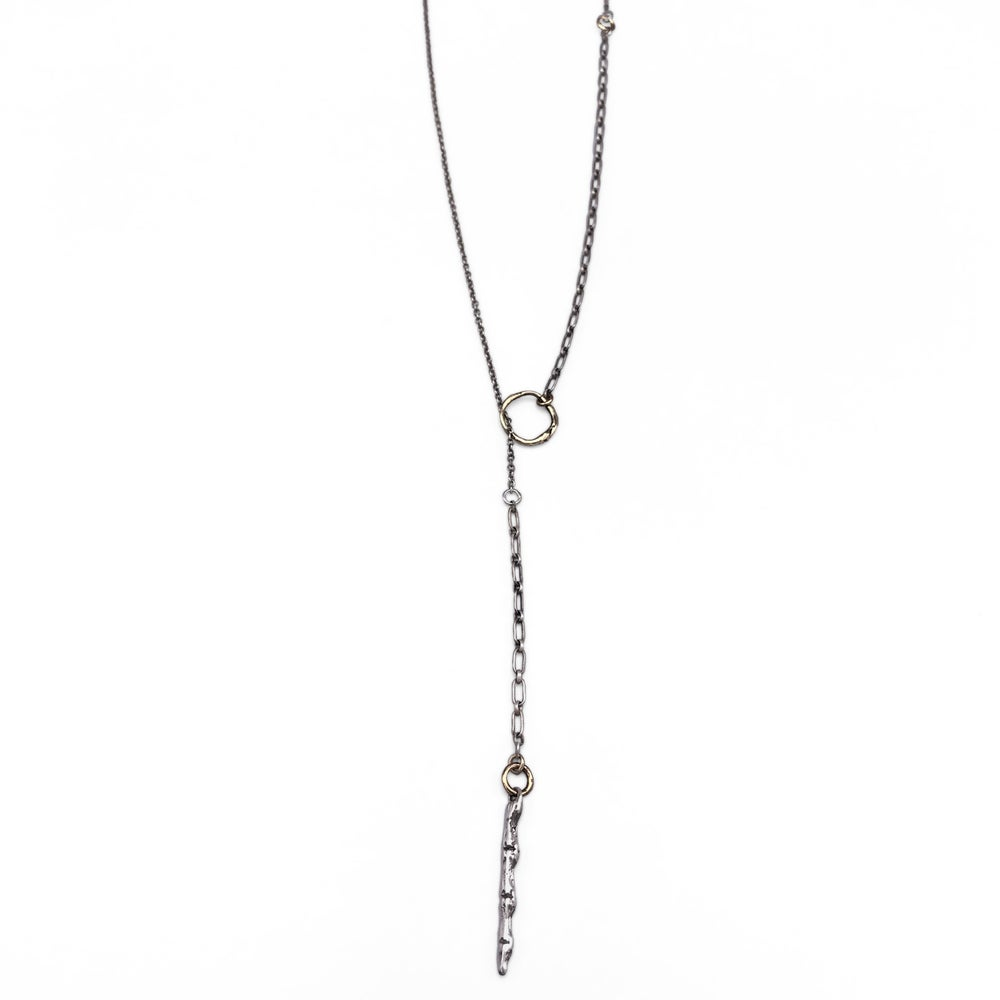 Image of spine lariet necklace (P167silbra24)