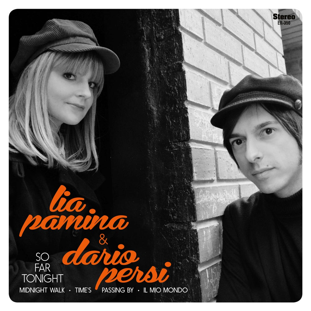 "Image of LIA PAMINA AND DARIO PERSI - So Far Tonight (Orange Vinyl 7"")"