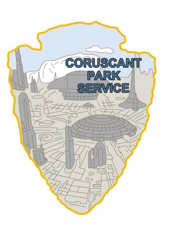 Image of Star Was Park Service Series 2 - CORUSCANT Sticker
