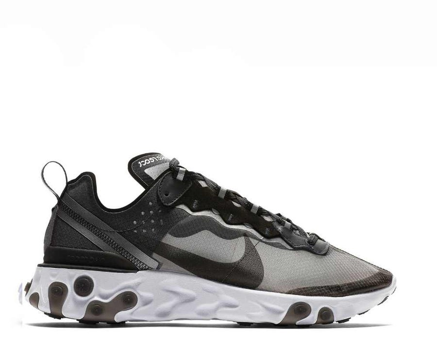 Image of NIKE REACT ELEMENT 87 ANTHRACITE BLACK AQ1090-001