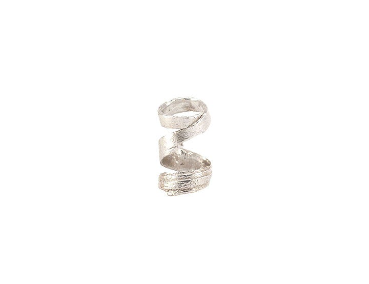 Image of bark spiral knuckle ring small