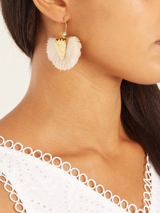 "Image of ""AGIA"" craie - BOUCLE D'OREILLE / EARRING"