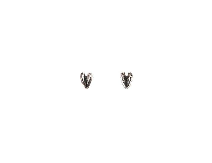 Image of raccoon heart studs