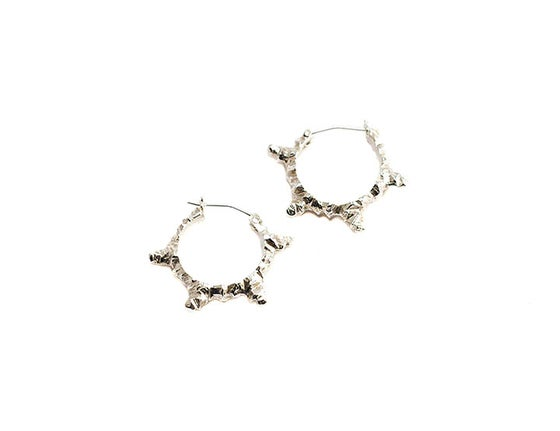 Image of stone age hoop earrings