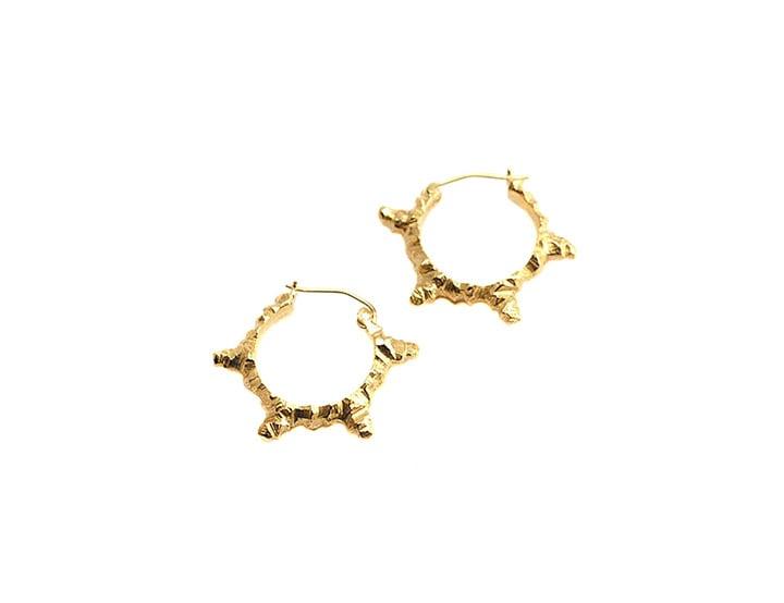 Image of stone age hoop earrings