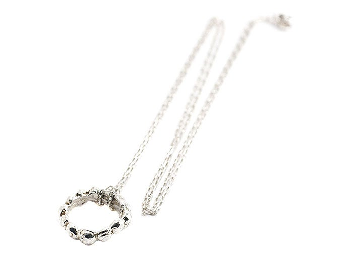 Image of caviar monocle necklace