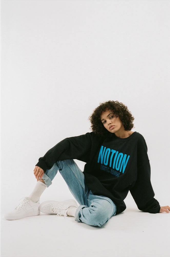 Image of Notion London Unisex Archive Logo Sweatshirt - Black