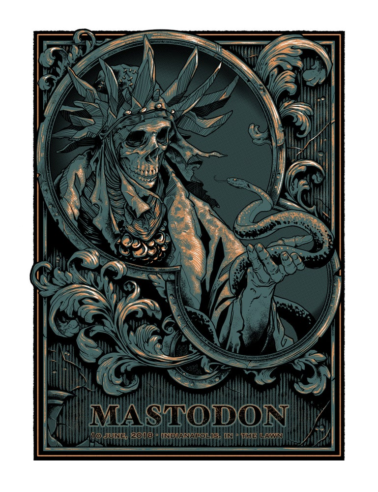 Image of Mastodon Gig Poster