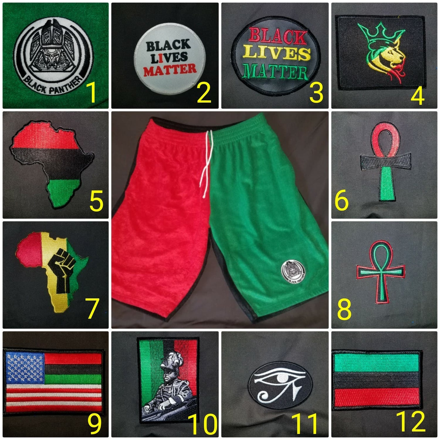 Image of RBG WOKE Shorts & all Patch Options