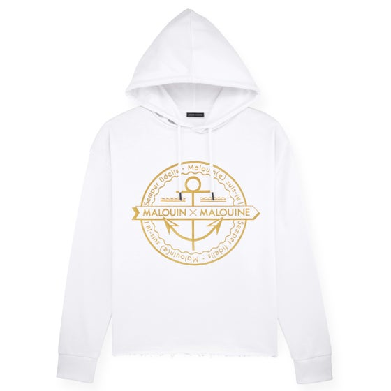 Image of Sweat-shirt Capuche // sable blanc