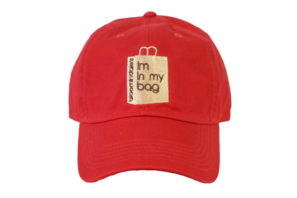 Image of Red Im In My Bag Dad Hat