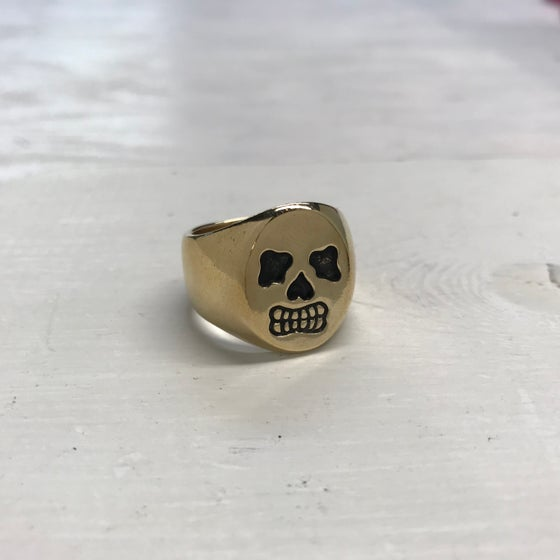 Image of Skull Signet Ring