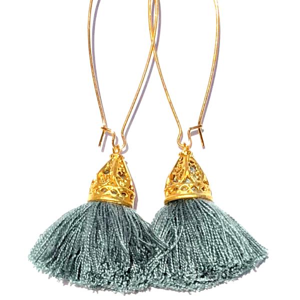 Image of Ltd Ed - Gold Waikiki Tassel Earrings - Platinum