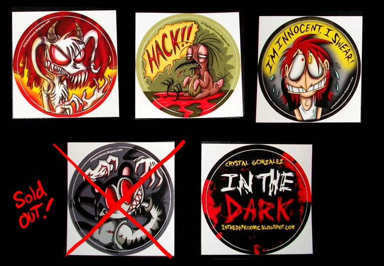 Image of In The Dark Vinyl Stickers
