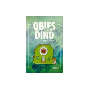 Image of Qbies Dino enamel pin by Sean Lee