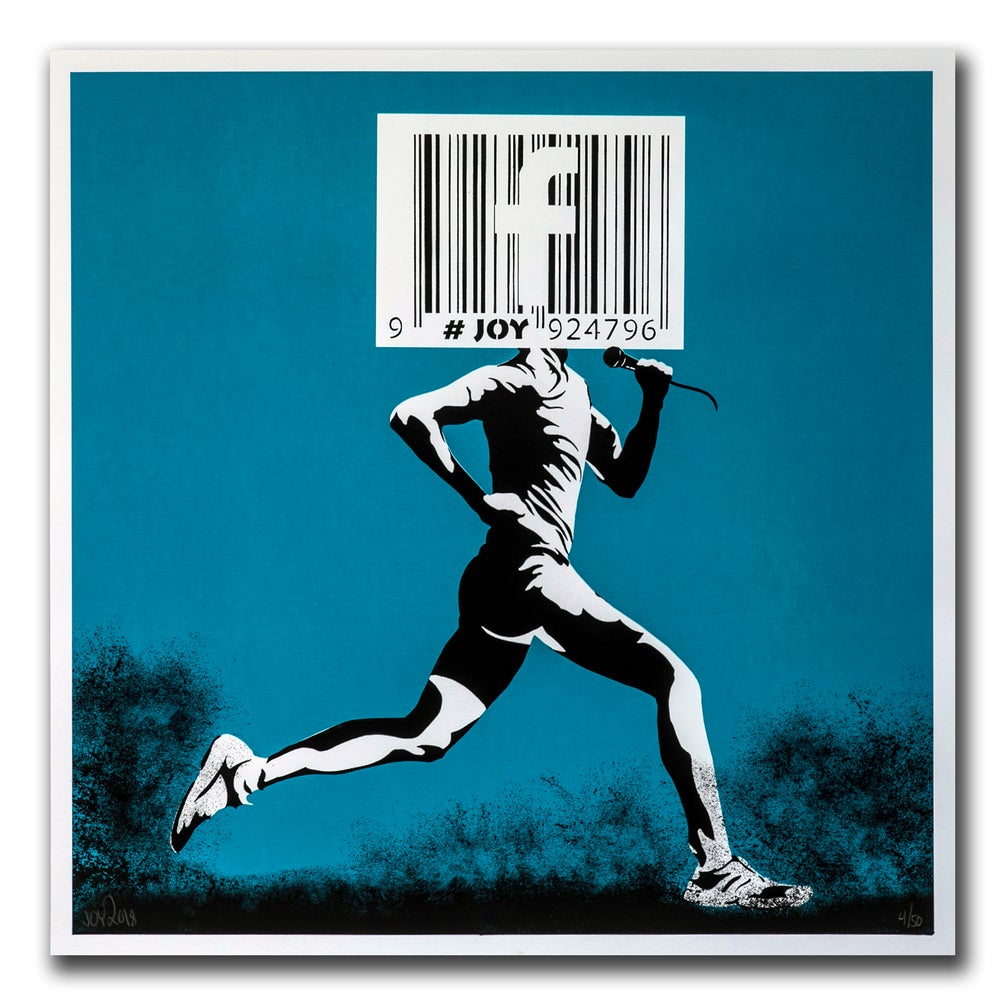 Image of JOY - Barcode runner print