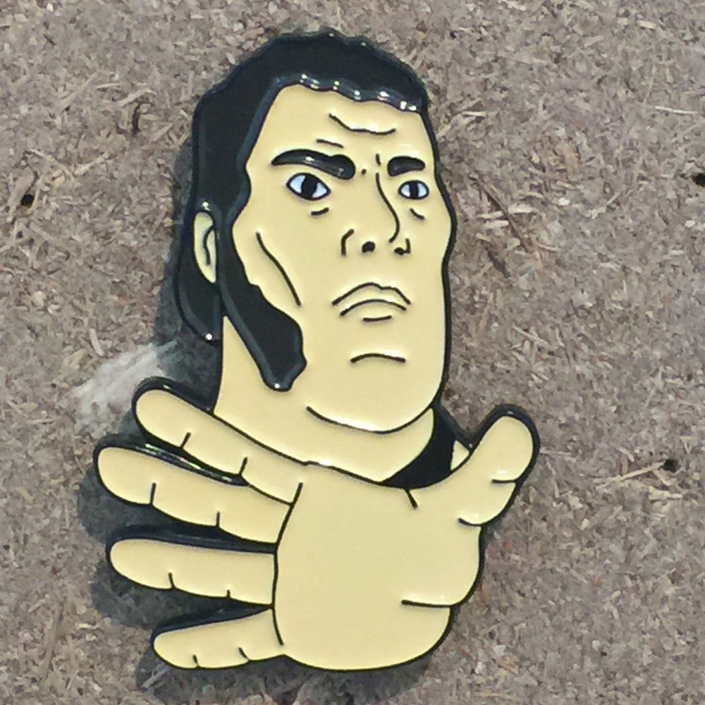 Image of Andre  - 40mm Enamel Pin