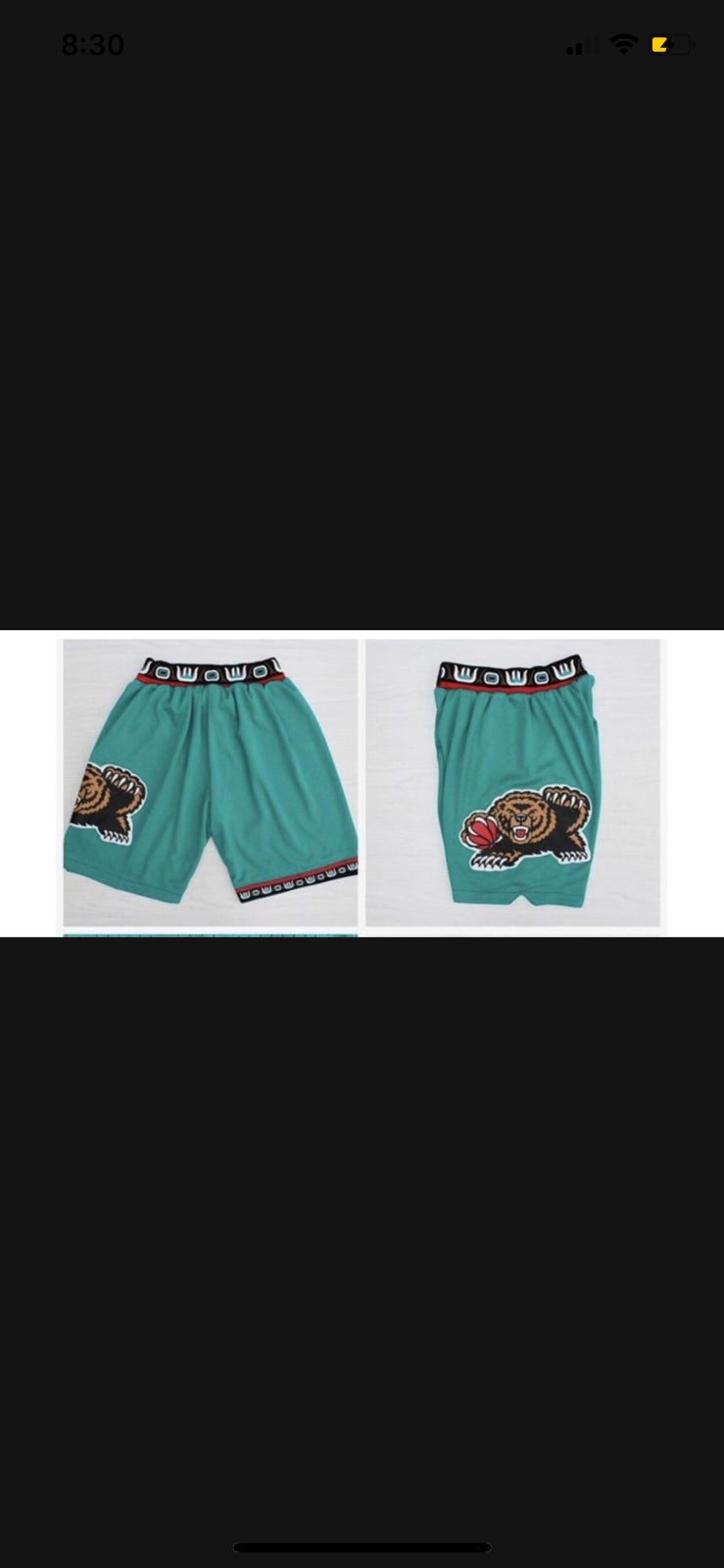 Image of Vancouver grizzlies throwback shorts