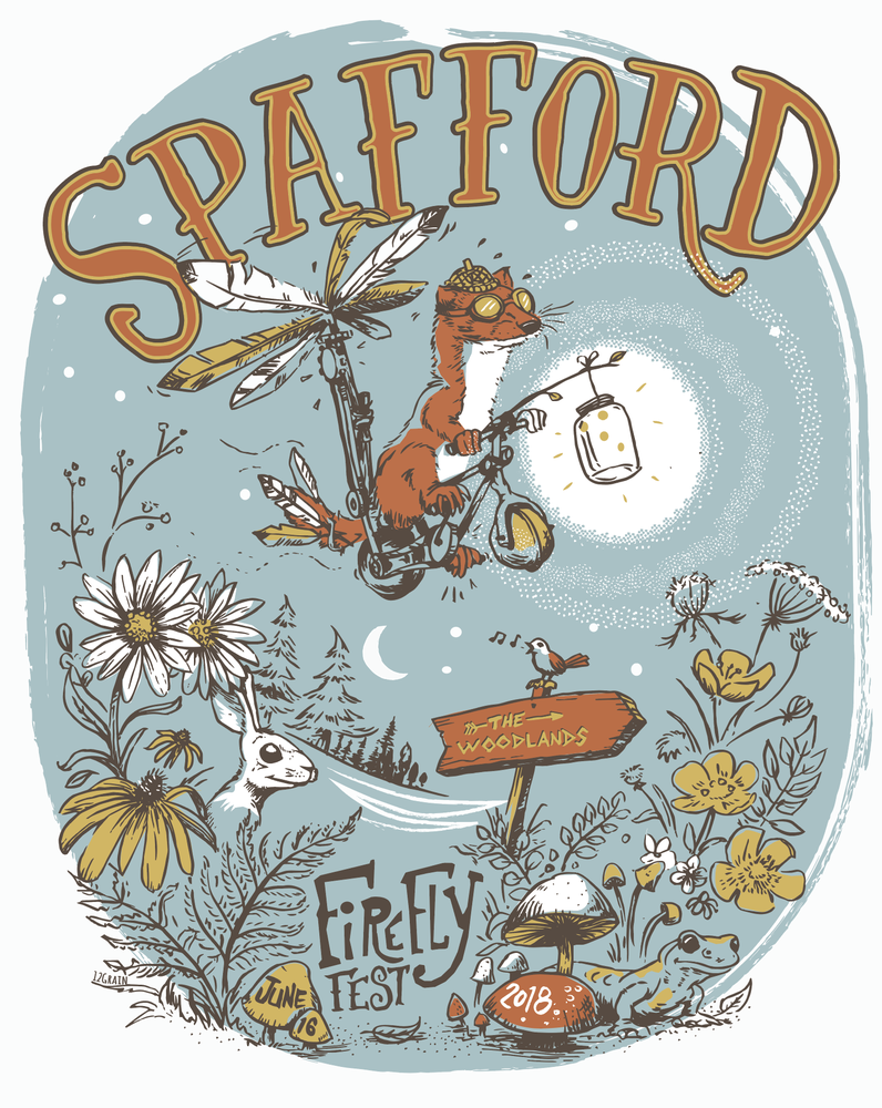 Image of Spafford Firefly Music Festival Print June 14-17 2018