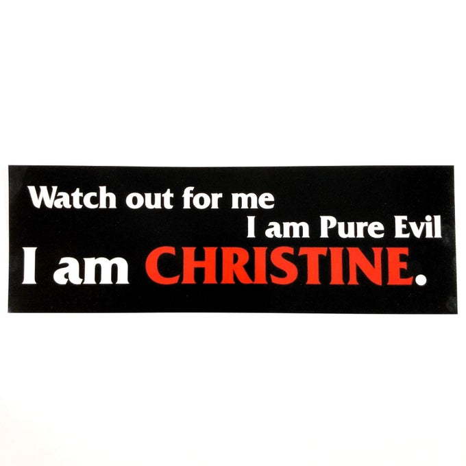 "Image of Christine Sticker Size 3"" x 9"""