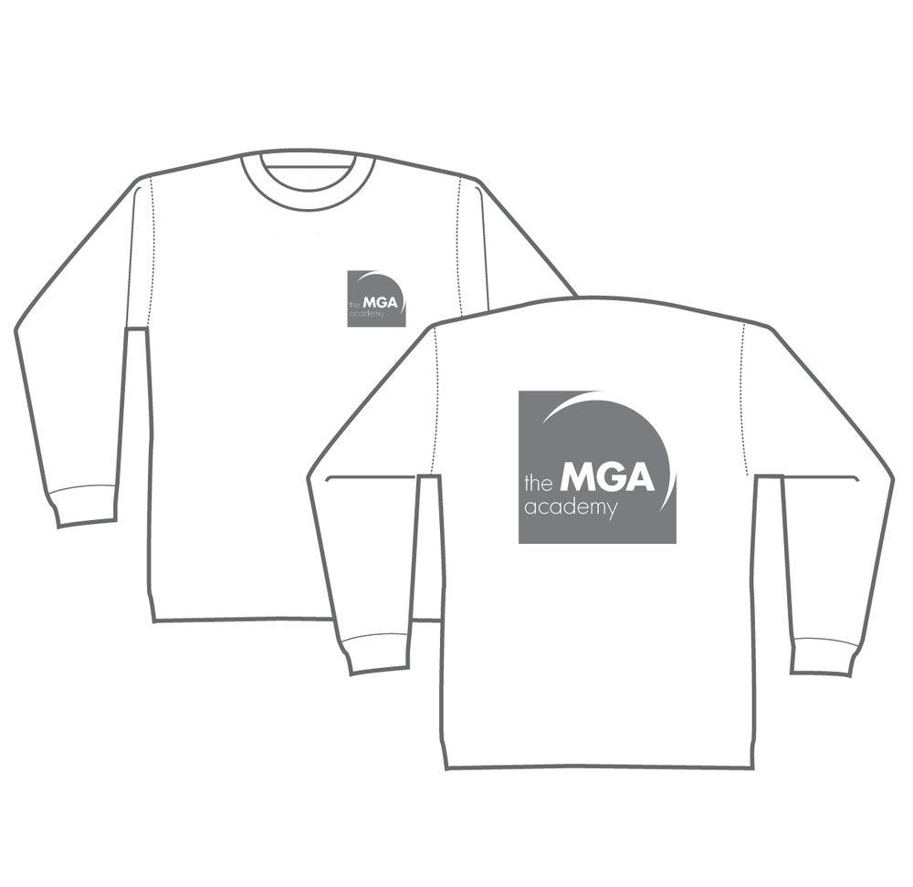 Image of MGA Long-Sleeved T-Shirt - Black, Grey and White