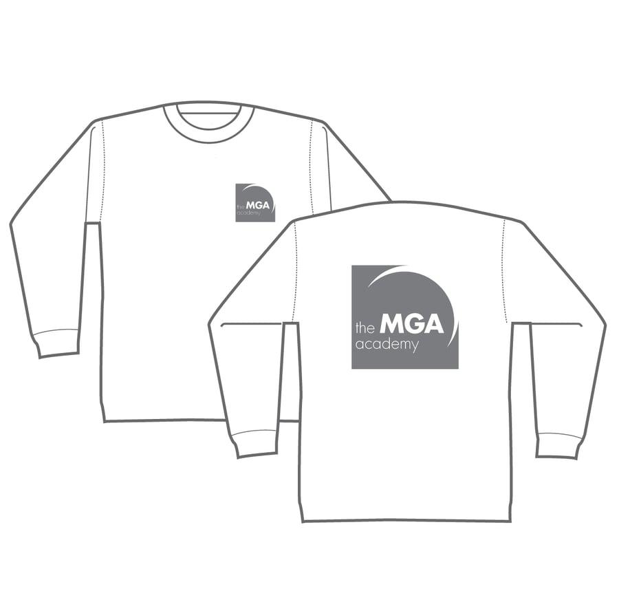 Image of MGA Long-Sleeved T-Shirt - Black, Grey and White