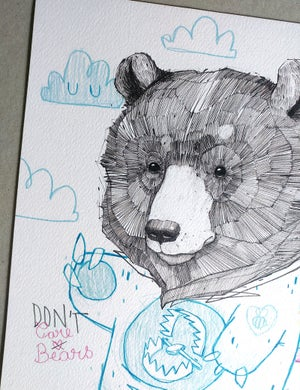 """Image of """"Don't Care Bear"""" - A4 print"""