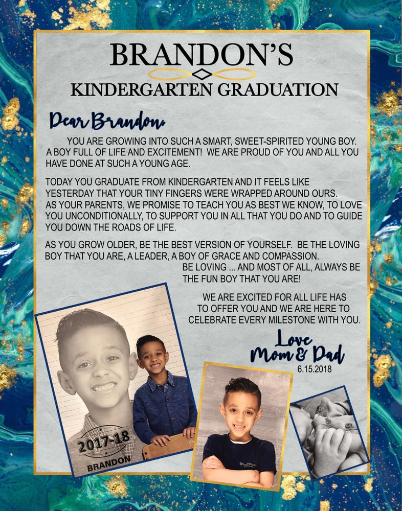 Image of Kindergarten Grad Board & Add'l Prints