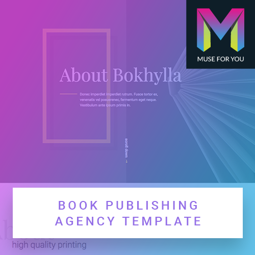 Image of Book Publishing Agency Template
