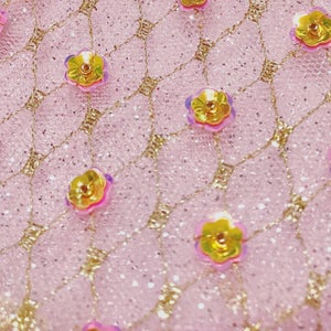 Image of Glitter Pink Luxe Bowie & Pink Lycra Bodysuit