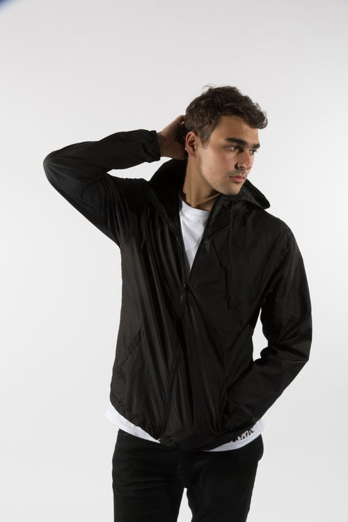 Image of black onyx windbreaker