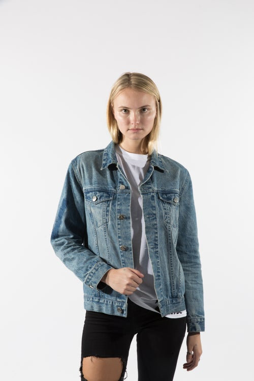 Image of custom print vintage denim jackets