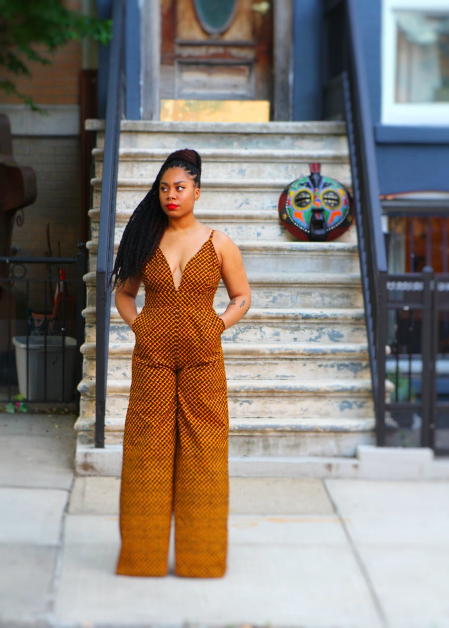 Image of COBRA - African Ankara Wax Print Wide Leg Pants Jumpsuit - by Tribal Groove