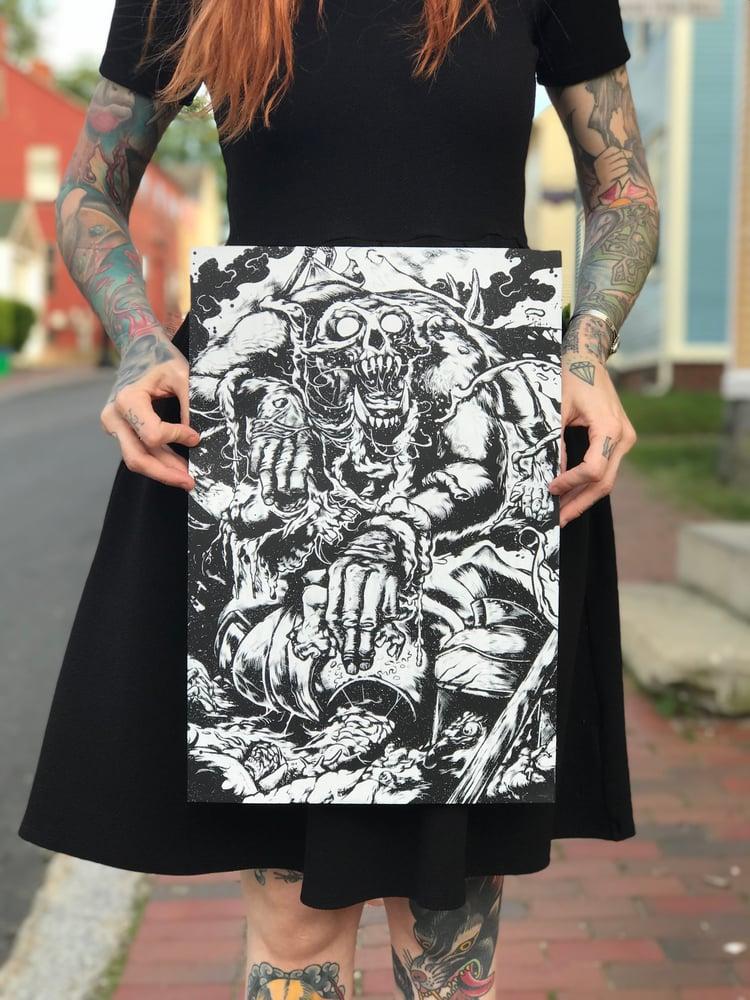 Image of 'Cannibal' 12 x 18 Screen Print