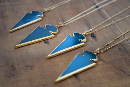 Image of The Onyx Arrowhead Necklace