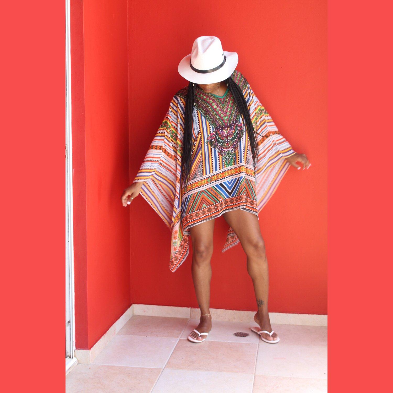 """Image of """"Chella"""" Multicolor Coverup"""