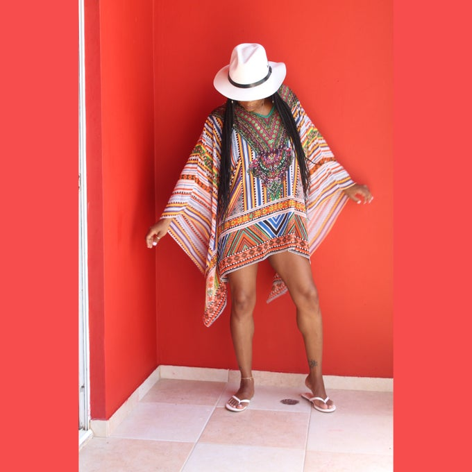 "Image of ""Chella"" Multicolor Coverup"
