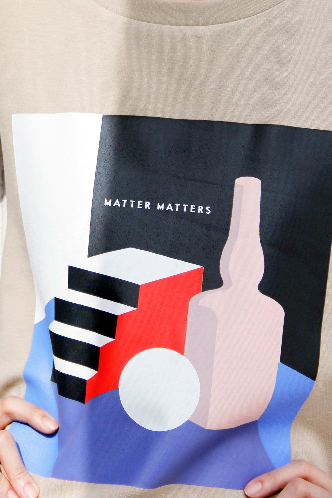 Image of Matter Matters Unisex Graphic Huge T-Shirt - Tan