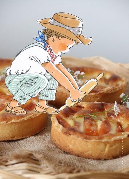 Image of Tarte de Bill (c'est une tarte aux abricots et aux amandes )