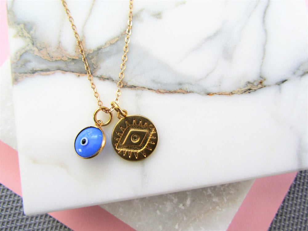 Image of Gold Evil Eye Necklace