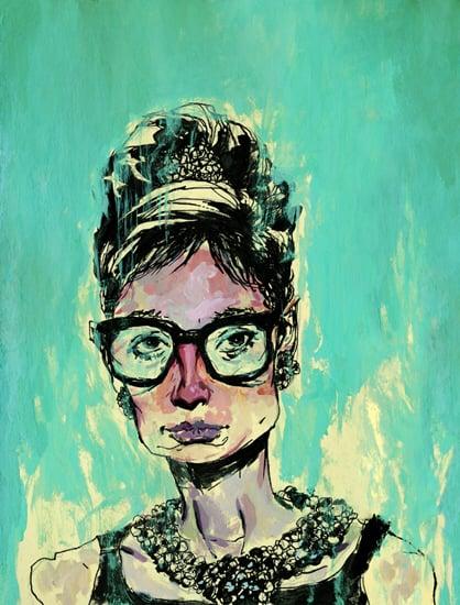 Image of Audrey Hepburn Print