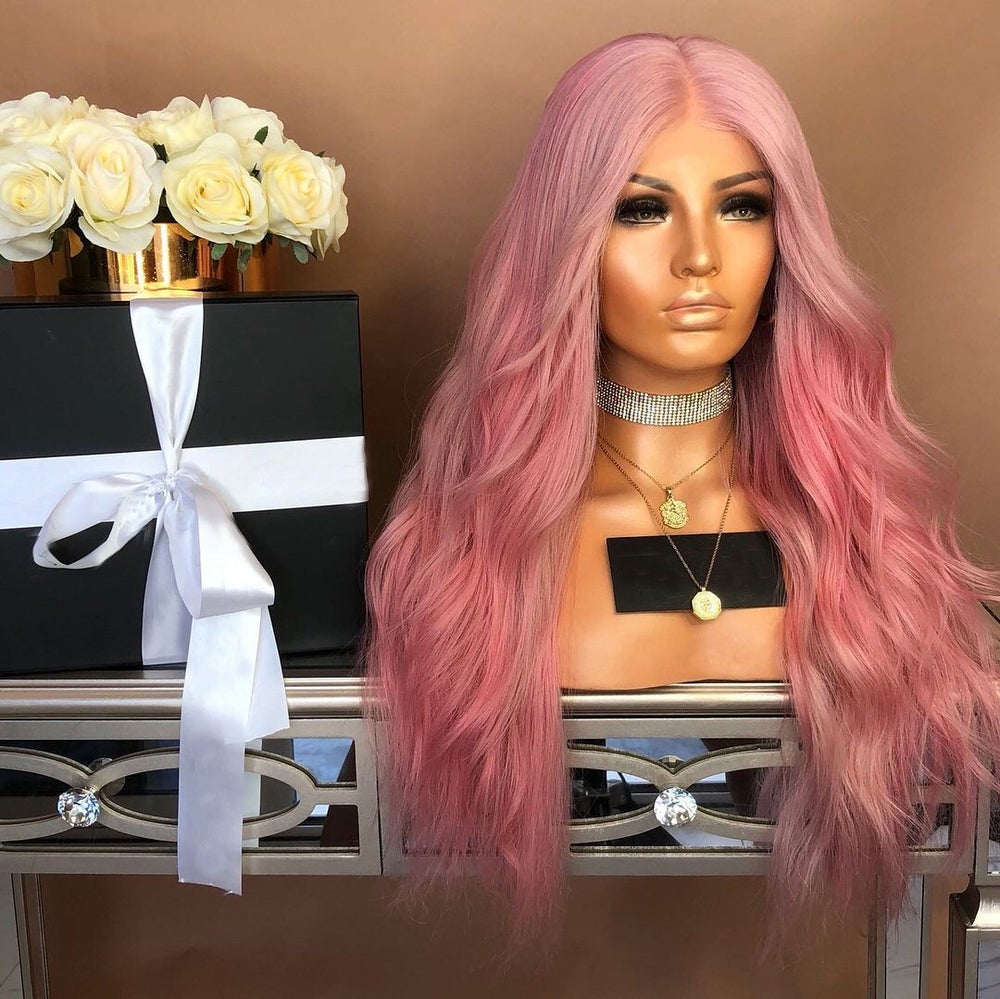 Image of Pink Champagne Lace Wig 26in