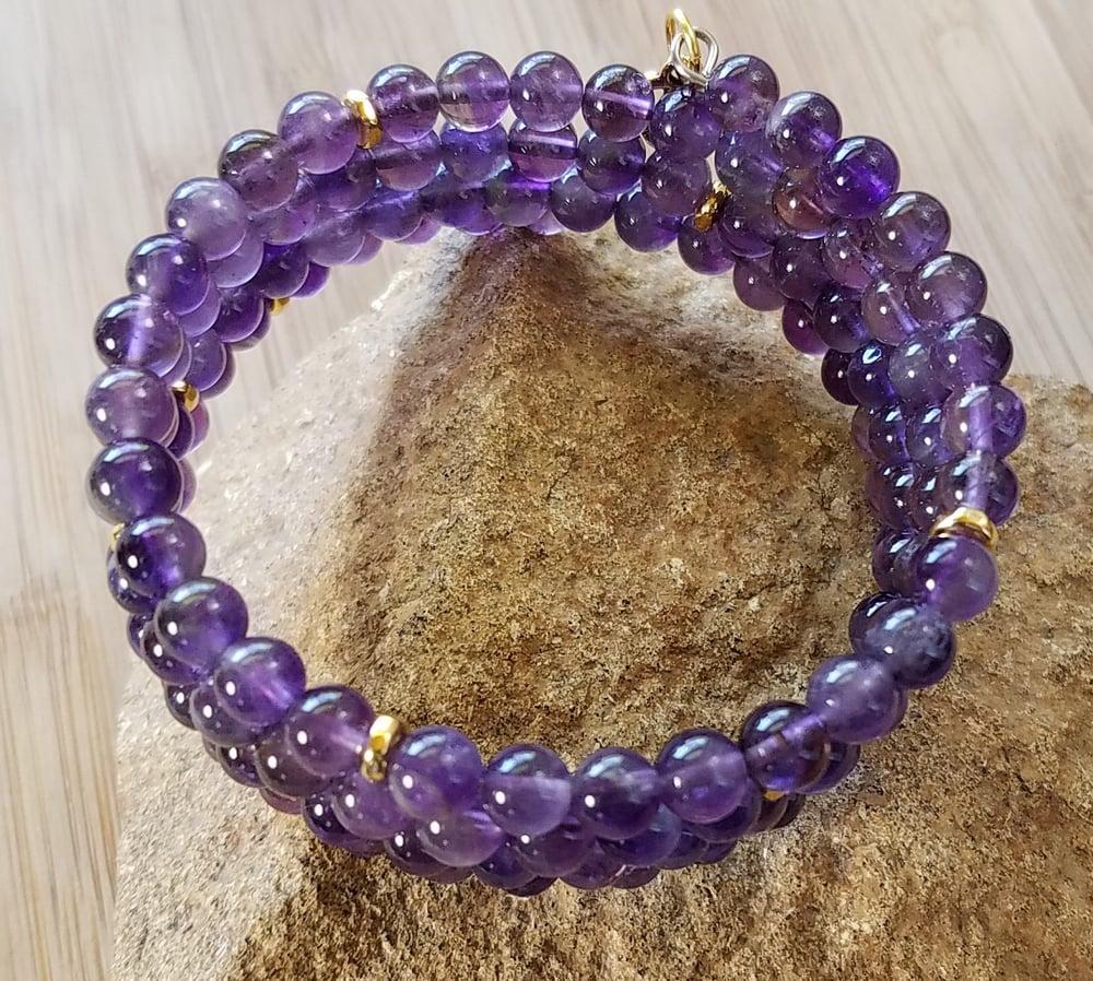 Image of Calming Amethyst Wrap Bracelet