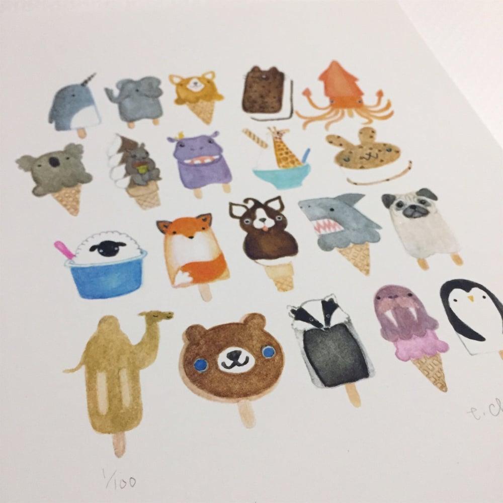 Image of frozen friends print