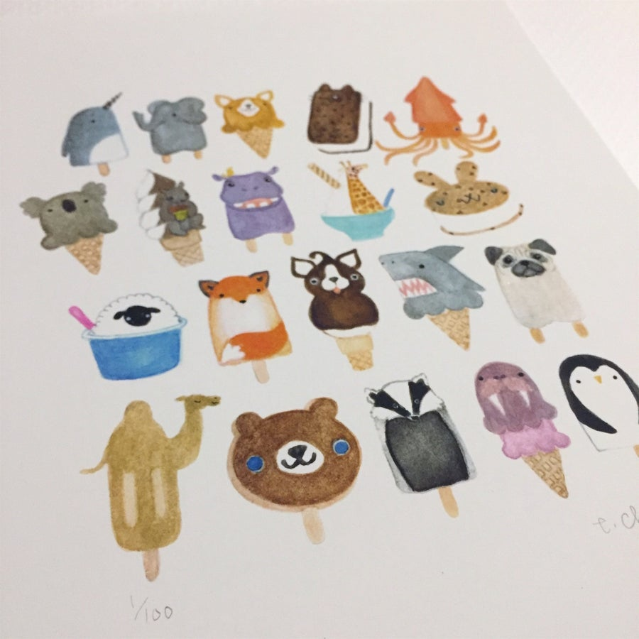 Image of frozen friends print