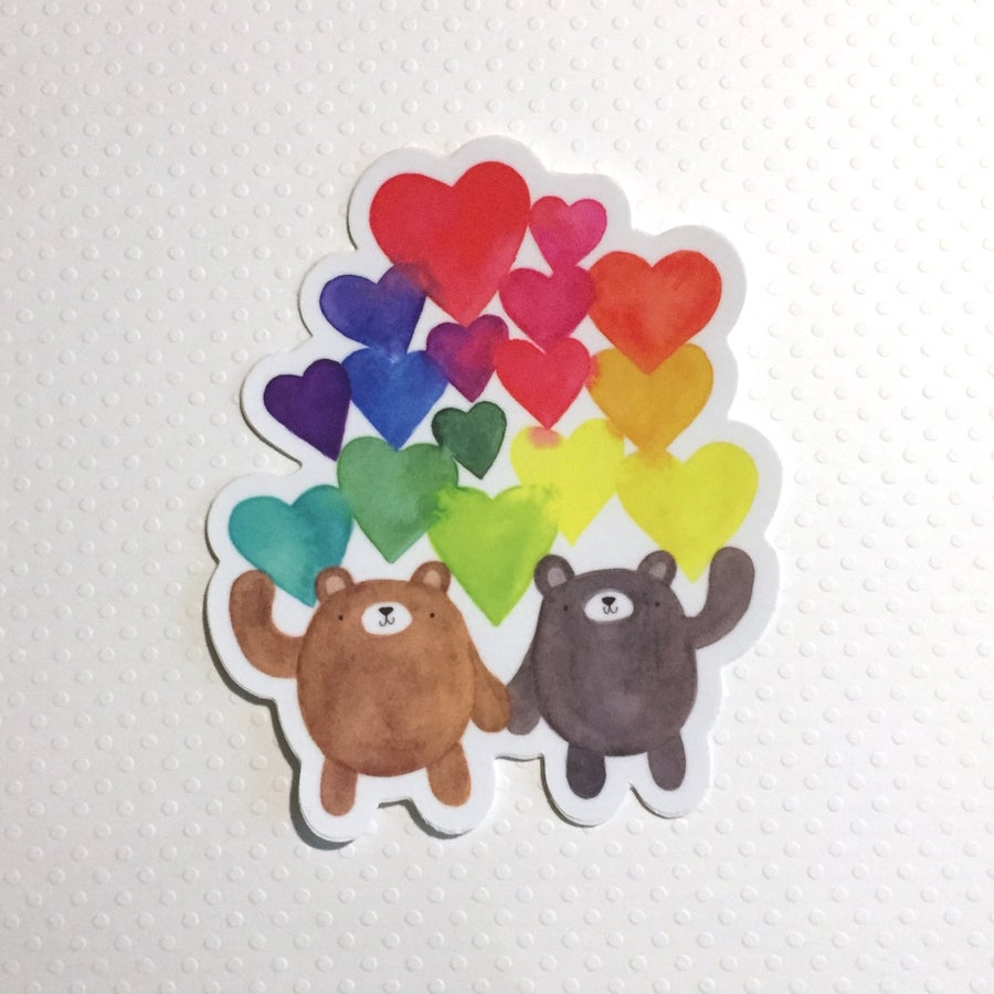 Image of love bears sticker