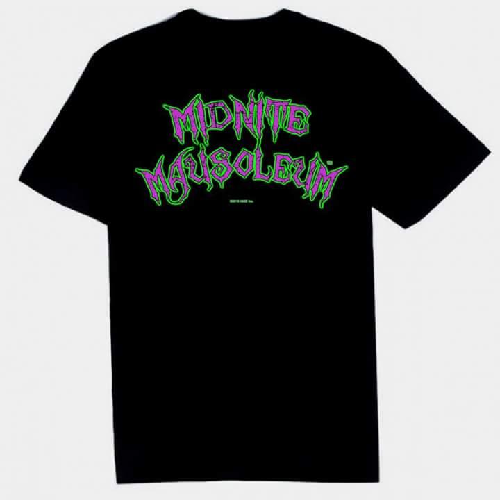Image of Midnite Mausoleum color logo tee